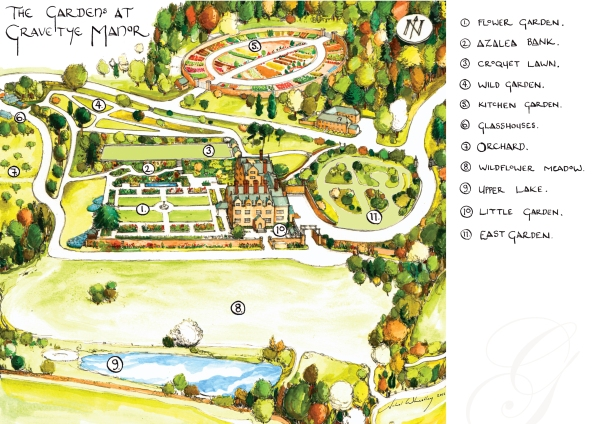 Gravetye Garden Map